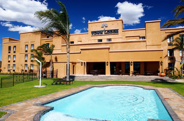 Exterior and pool view at Town Lodge Polokwane.